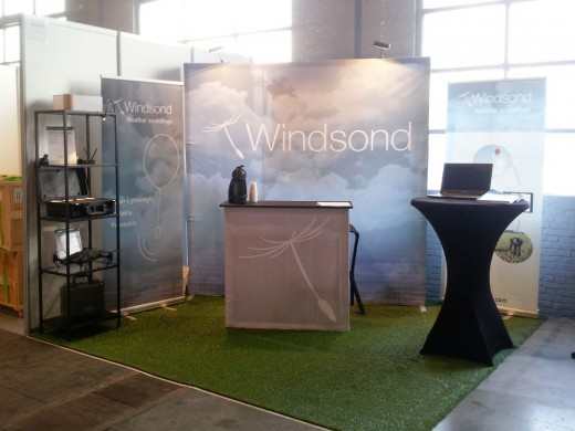 Windsond stand before the expo opens