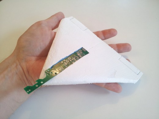 Mockup of Windsond miniature glidersonde